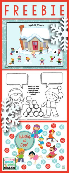 A open ended winter FREEBIE from me {Mia McDaniel} to YOU! Thank you for your continued support of my little TpT shop!
