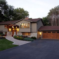 Raised Ranch Redo Exterior House Colors With Brown Roof Design Pictures Remodel Decor And Ideas