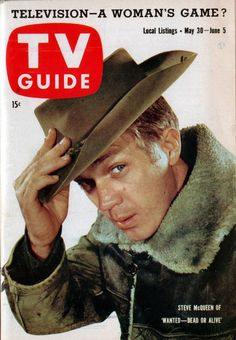 Steve McQueen of 'Wanted—Dead or Alive', TV Guide', May 1959.