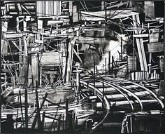 Kevin Fletcher. Mine Closure/Dismantling the Ore Processing Division, 2009.  Monotype