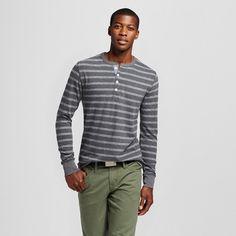 Men's Striped Long Sleeve Henley