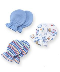 Gerber Baby-boys Newborn 3 Pack Mitten, Blue, « Clothing Impulse  $4.49