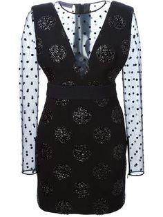polka dot fitted dress