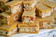 Prajitura rumba, o prajitura dulce si super fresh Cornbread, Feta, Sandwiches, Goodies, Dairy, Food And Drink, Cupcakes, Sweets, Cooking
