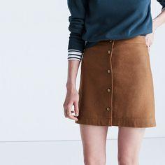 Madewell+-+Button-Front+Skirt