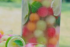 Ball Punch - Sprite - Ideas of Sprite - Melon Ball Punch (with white grape juice sprite and lemonade). Divas Can Cook.Melon Ball Punch - Sprite - Ideas of Sprite - Melon Ball Punch (with white grape juice sprite and lemonade). Divas Can Cook. Refreshing Drinks, Fun Drinks, Yummy Drinks, Healthy Drinks, Beverages, Food And Drinks, Nonalcoholic Summer Drinks, Healthy Food, Summer Cocktails