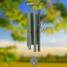"""Bells Of Vienna 65"""" Patina Green Wind Chime - Scale Of D#Patina green compliments sandy beaches and pastels. One of Bells of Vienna windchimes compellingly popular colors. It adds a light and cheery presence to any deck or room that compliments the chime's music. #MadeintheUSA#Crafts"""