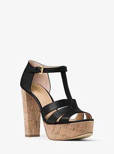 Mercer Cork Platform Leather Sandal
