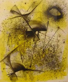 Jimmy Ernst: Composition in Yellow and Black, 1947