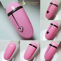 13 Three-Step Easy Nail Designs And Tutorials You Will Absolutely Love - Black Heart Nails Art Tutorial ★ If you'd like to switch to self nail designs, thes - Nail Designs Easy Diy, Nail Art Designs Videos, Nail Art Videos, Nail Art Hacks, Nail Art Diy, Diy Nails, Heart Nail Art, Heart Nails, Simple Toe Nails