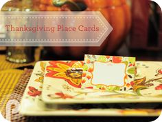 Free Downloadable Thanksgiving Place Cards from Persnickety Prints