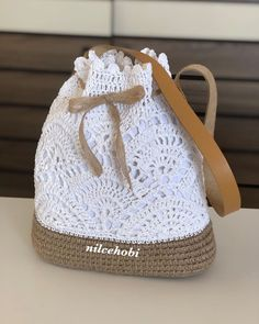 Crochet Bags Cheap bag girl, Buy Quality bag foot directly from China bag kitty Suppliers: bolsa de franja fringe Crochet shoulder bags woven rattan straw bag Bucket backpack beach summer hollow out -Affordable bag woman, Purchase High quality bag fo Crochet Backpack, Crochet Tote, Crochet Handbags, Crochet Purses, Crochet Crafts, Crochet Projects, Free Crochet, Crochet Flor, Crochet Summer
