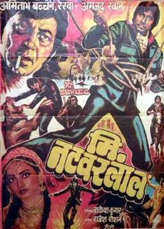 Mr. natwarlal (1979), Amitabh Bachchan, Classic, Indian, Hand Painted, Bollywood, Hindi, Movies, Posters
