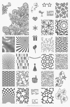 UberChic Beauty Nail Stamp Plates: Collection 6 (UC 6-01)
