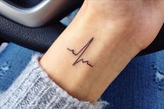EKG on my side! More The post EKG on my side! … appeared first on Woman Casual - Tattoos And Body Art Little Tattoos, Mini Tattoos, Sexy Tattoos, Cute Tattoos, Body Art Tattoos, Small Tattoos, Tattoos For Women, Tatoos, Ekg Tattoo