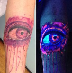 30 Glow-In-The-Dark Tattoos That'll Make You Turn Out The Lights