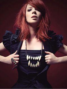 Shirley Manson, lead singer of Garbage. #shirleymanson #garbage #redhead