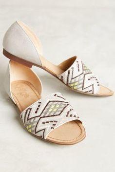 Latigo Molly Embroidered Flat Light Grey Shoes #anthrofave