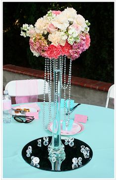 Bridal shower centerpiece, I'd put more candles/flowers around it though :)