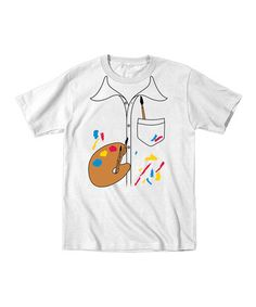 This White Artist Smock Tee - Toddler & Kids by Tuxedo Tees is perfect! #zulilyfinds