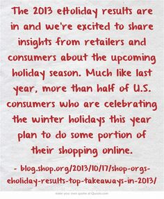 The 2013 eHoliday results are in and we're excited to share...