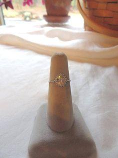18kt. White Gold Diamond Ring From Estate, 15 Diamonds,Size 6¾, Free USA Ship.