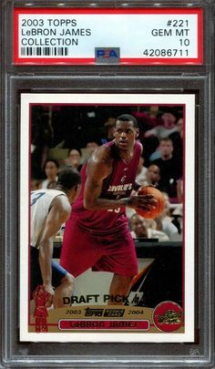 Lebron James Rc 2003 04 Topps Collection #221 Rc Rookie Cavaliers PSA 10 #LeBronJames #PSA10 #sportscards
