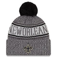 super popular 63a49 9926b New Orleans Saints New Era 2018 NFL Sideline Cold Weather Graphite Sport  Knit Hat – Graphite