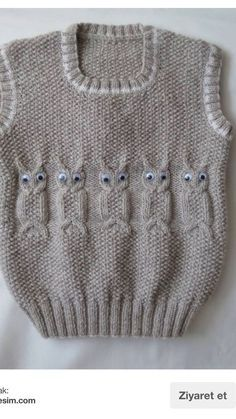 Süveter [] # # #Baby #Knits, # #Crochet #Baby, # #Knitting #Patterns, # #Toddlers, # #Tric, # #Owls, # #Revenue