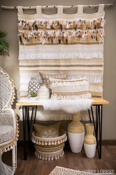 Add tassels to a perfectly plump pillow to give it a cozy boho look that is sure to please!