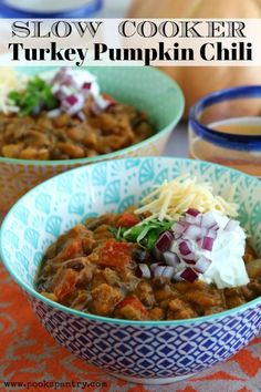 Chipotle turkey pumpkin chili is a great fall dinner made in the slow cooker. Pumpkin isn't only for sweet recipes, it makes a creamy and flavorful chili. Slow Cooker Turkey, Slow Cooker Chili, Slow Cooker Recipes, Crockpot Meals, Beef Chili Recipe, Chili Recipes, Chipotle, Pumpkin Chili, Canned Pumpkin