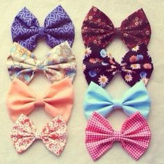 I love hair bows! No joke, I have loved them since I was really little, but then they all broke, and I found a few that survived, and I have and I'm gonna get more!