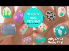 10 EASY nail designs using ONLY  bobby pins! - http://47beauty.com/nails/index.php/2016/08/22/10-easy-nail-designs-using-only-bobby-pins/ http://47beauty.com/nails/index.php/nail-art-designs-products/   Video Rating:  / 5  A foolproof tutorial for those just starting out with gel nails   Don't forget to check out my website for more reviews, tutorials, and travel posts!: www.thebeautybreakdown.net For 30% at Madam Glam use code YT30OFF : http://madamglam.com/?utm_so