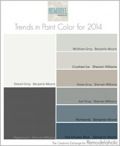 Trends in Paint Color for 2014 {Remodelaholic} #paintpalette #trending @Remodelaholic .com