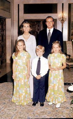 Not really obscure, but a picture of a young Juan Carlos I and Sofia with their three children.