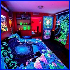 blacklight trippy wall art-#blacklight #trippy #wall #art Please Click Link To Find More Reference,,, ENJOY!!