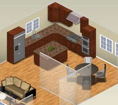 L Shaped Kitchen Designs With Island | Planning A Small Kitchen Layout | Kitchen Layout Decor Ideas