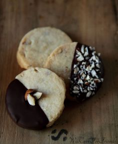 Hazelnut Shortbread Cookies (perfect with tea, coffee, or chocolate) by WillCookForFriends, via Flickr