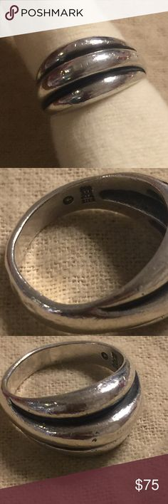 James Avery triple Dome ring retired Sz 7.5 Sterling. Normal wear. James Avery Jewelry Rings