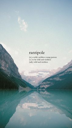 Rantipole (n) a wild, reckless young person; Unusual Words, Weird Words, Rare Words, Unique Words, Cool Words, Fancy Words, Big Words, Deep Words, Pretty Words