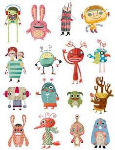 Monster magic stickers   Pencil Ilustradores
