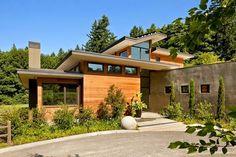 Skyline Residence by Nathan Good Architects Nathan Good Architects han diseñado una moderna casa de la familia de arquitectura sostenible en Portland, Oreg