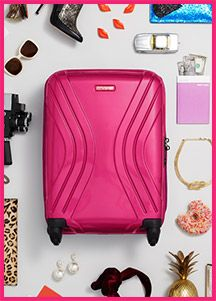 Fix up your globetrotting look with American Tourister and you could win a suitcase and some ASOS vouchers.  because it's PINK