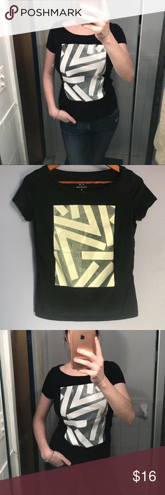 Armani Exchange t-shirt Very stylish t-shirt from Armani Exchange. Great with jeans👌🏼 worn few times. Like new. Perfect continuation. Armani Exchange Tops