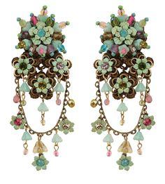 Michal Negrin Jewelry  Clip On Flowers Earrings - 037