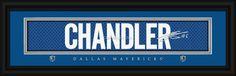 Tyson Chandler Dallas Mavericks Player Signature Stitched Jersey Framed Print