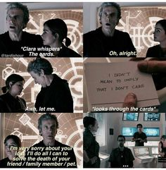 Why do I feel like this is something John and Sherlock would do? Doctor Who Clara, Doctor Who Funny, Doctor Humor, Doctor Who Quotes, Twelfth Doctor, Eleventh Doctor, Geeks, Clara Oswald, Rory Williams
