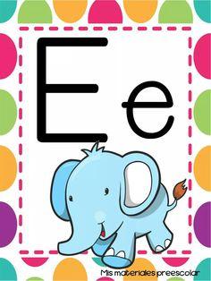 E is for Elephant = Elephant Preschool Names, Name Activities, Preschool Classroom, Classroom Decor, Activities For Kids, Kindergarten, Board Decoration, Teaching The Alphabet, Borders For Paper