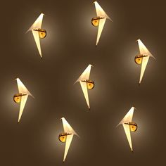 IWHD Creative Origami LED Wall Lamp Individuality Concise PP Bedside Light Fixtures Home Lighting Bar Cafe Indoor Room Lighting Indoor Wall Lights, Led Wall Lights, Room Lights, Bedside Lighting, Wall Sconce Lighting, Origami Lights, Flower Lamp, Led Wall Lamp, Family Room Design
