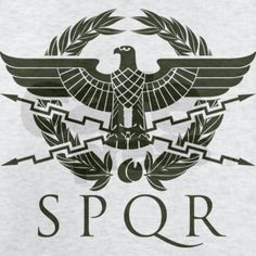 This symbol stands for Senatus Publisque Romanus, The Senate and People of Rome. Spqr Tattoo, Ancient Rome, Ancient History, Adler Tattoo, Roman Legion, Empire Romain, Templer, Roman Soldiers, Roman Empire